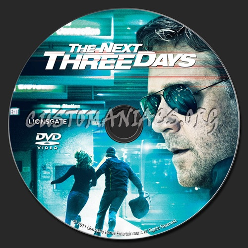 The Next Three Days dvd label