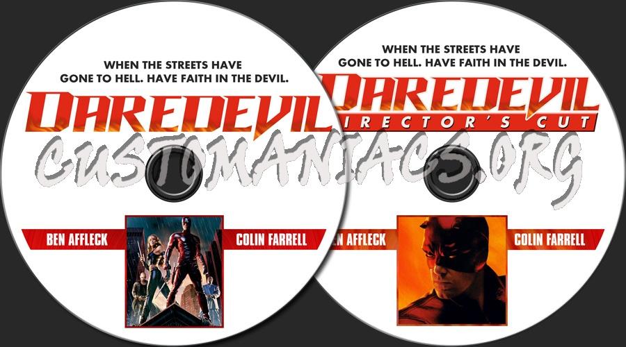 Daredevil / Daredevil - Director's Cut dvd label