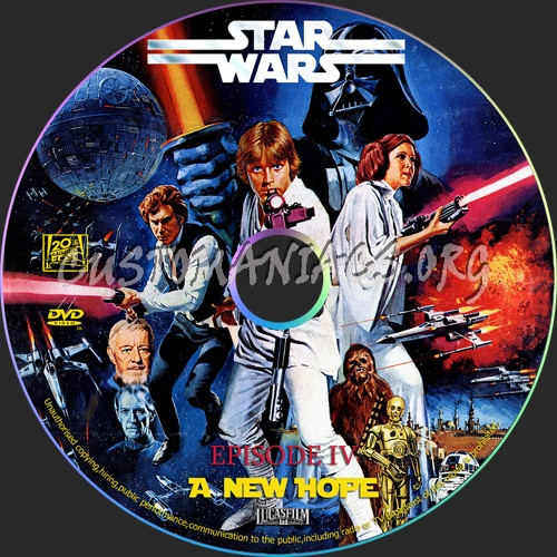 Star Wars Episode 4 - New Hope dvd label
