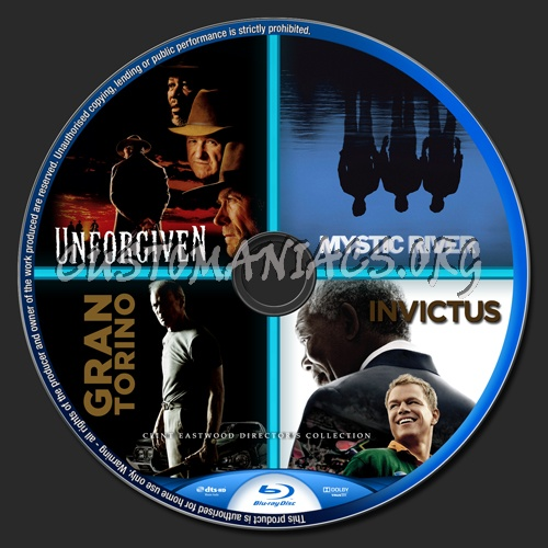 Clint Eastwood Director's Collection blu-ray label