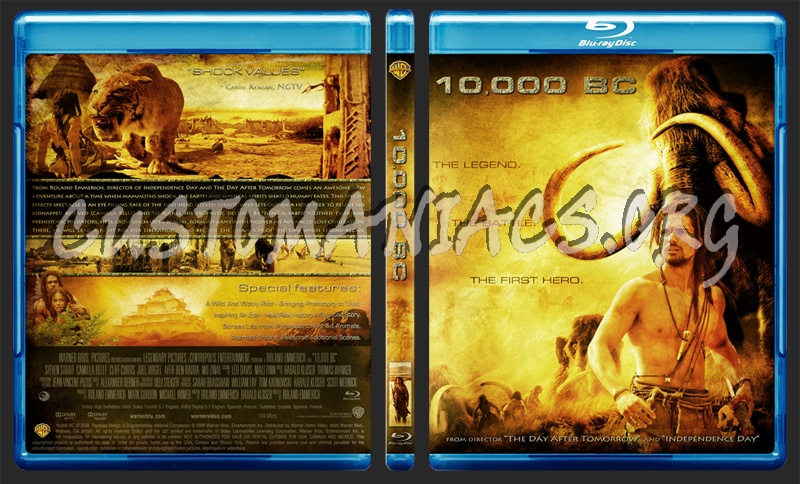 10,000 Bc blu-ray cover - DVD Covers & Labels by