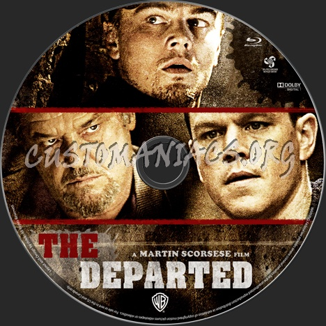 The Departed blu-ray label
