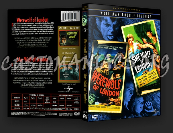 Werewolf of London / She-Wolf of London dvd cover