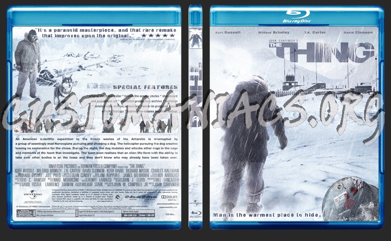 The Thing blu-ray cover