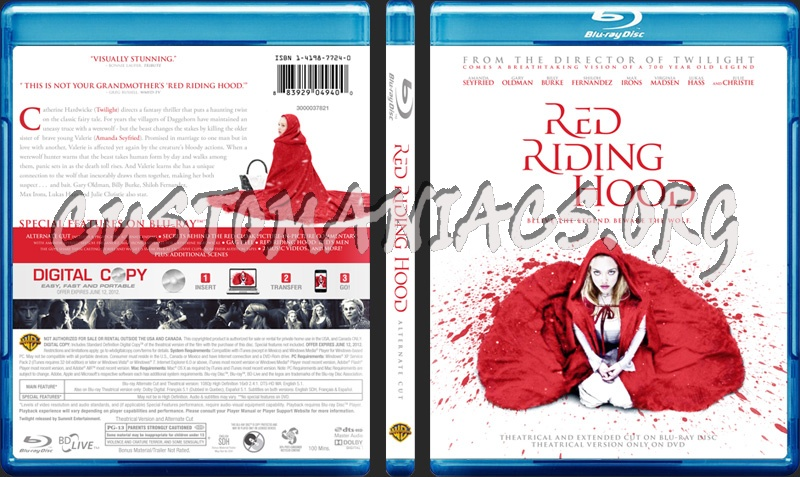 Red Riding Hood blu-ray cover