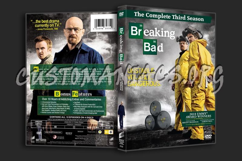 Breaking Bad - Season 3 dvd cover