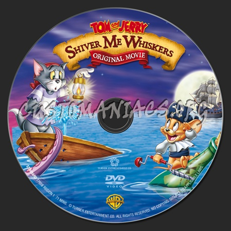 Tom and Jerry Shiver Me Whiskers dvd label