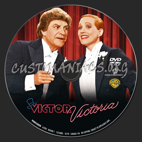 Victor Victoria dvd label