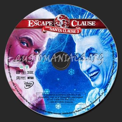 The Santa Clause 3 The Escape Clause dvd label