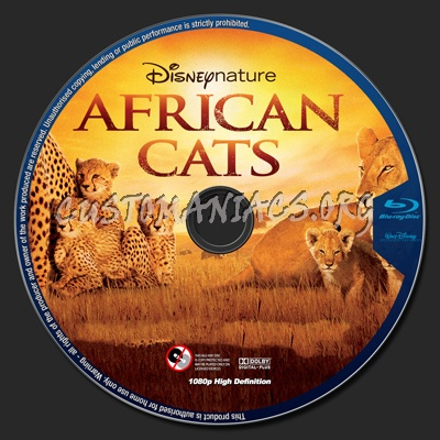 African Cats blu-ray label