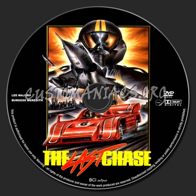 The Last Chase dvd label