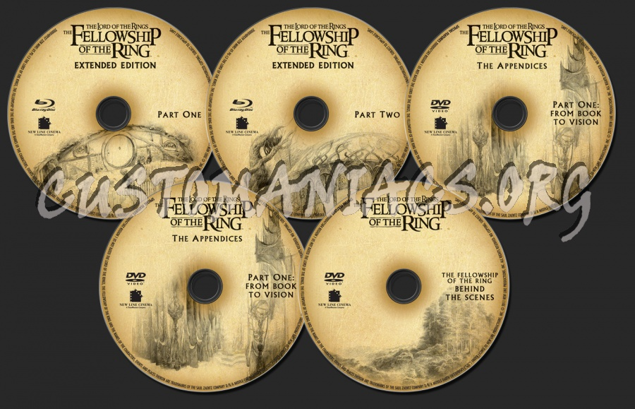 The Lord of the Rings: The Fellowship of the Ring blu-ray label