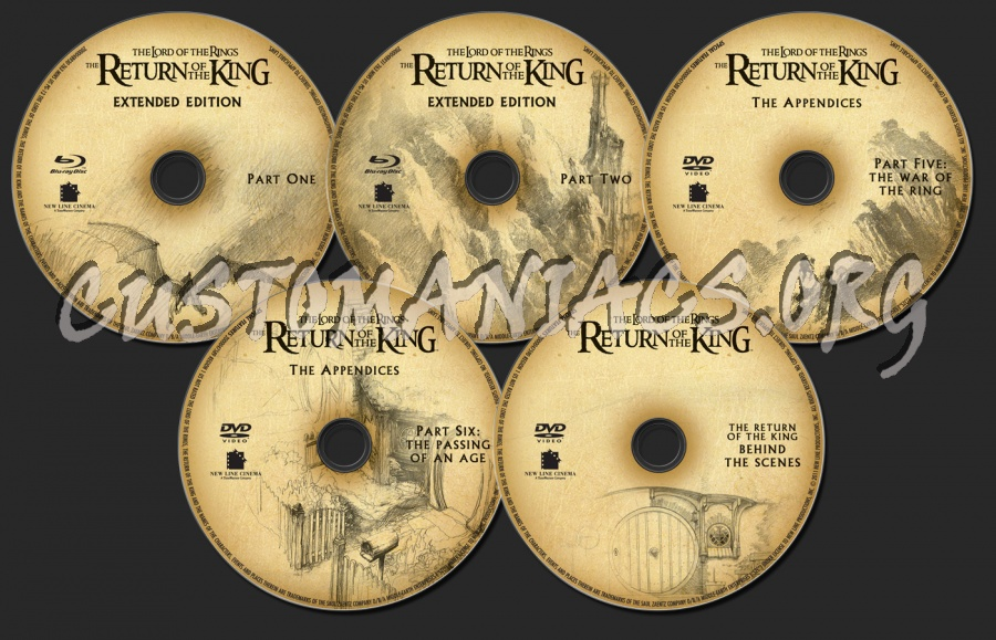The Lord of the Rings: The Return of the King blu-ray label