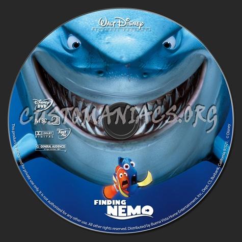 Finding Nemo dvd label