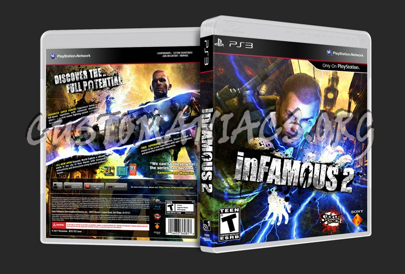 inFAMOUS 2 dvd cover