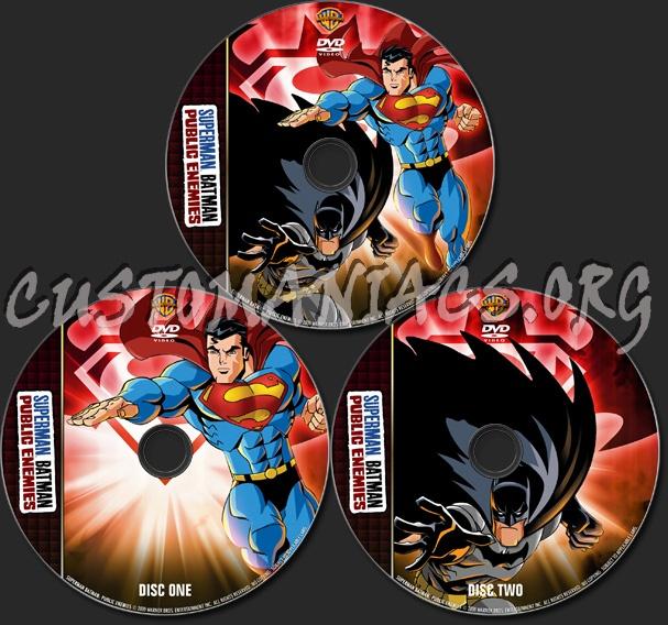 Superman / Batman: Public Enemies - TV Collection dvd label