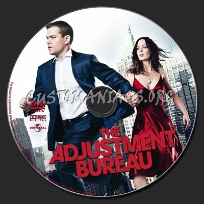 The Adjustment Bureau dvd label