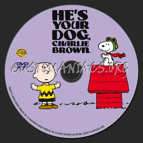 He's Your Dog, Charlie Brown dvd label