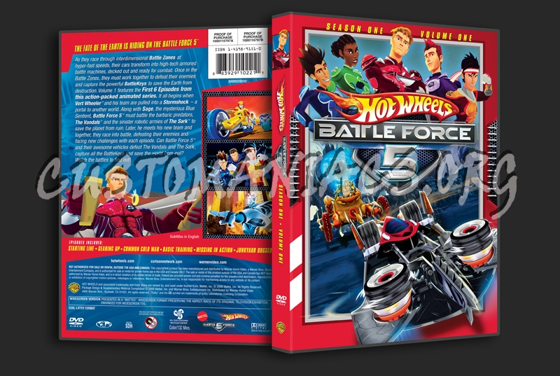 Hot Wheels Battle Force 5 Season 1 Volume 1 dvd cover