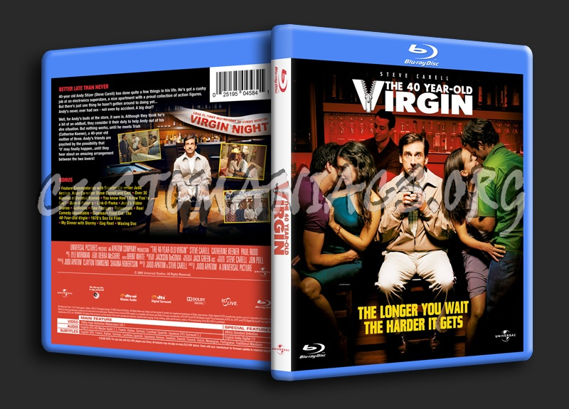 The 40-Year-Old Virgin blu-ray cover