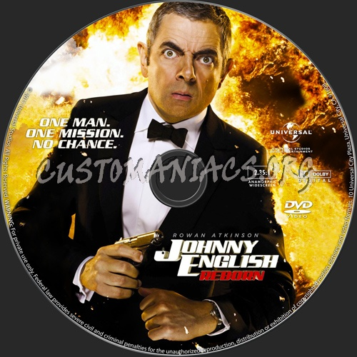Johnny English Reborn dvd label