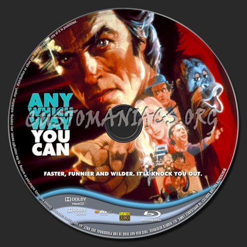 Any Which Way You Can blu-ray label
