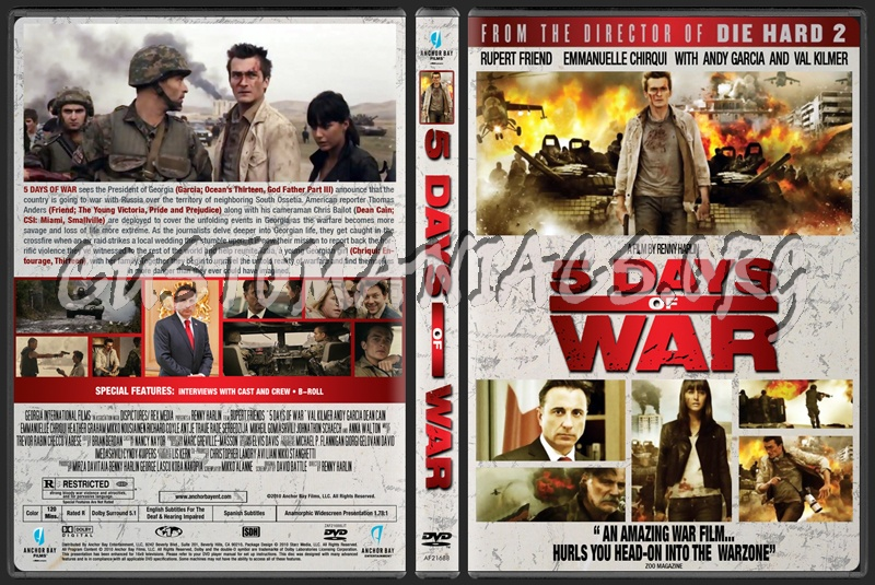 5 Days of War aka 5 Days of August dvd cover
