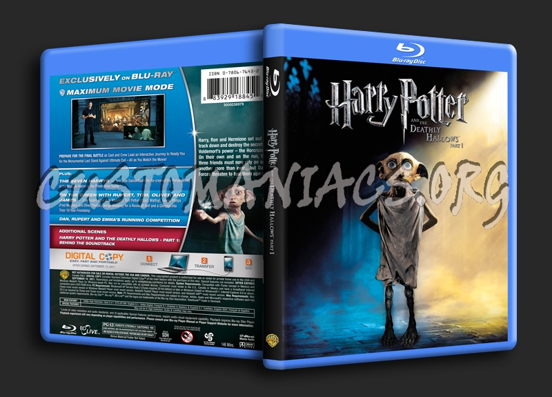 Harry Potter and the Deathly Hallows Part 1 blu-ray cover