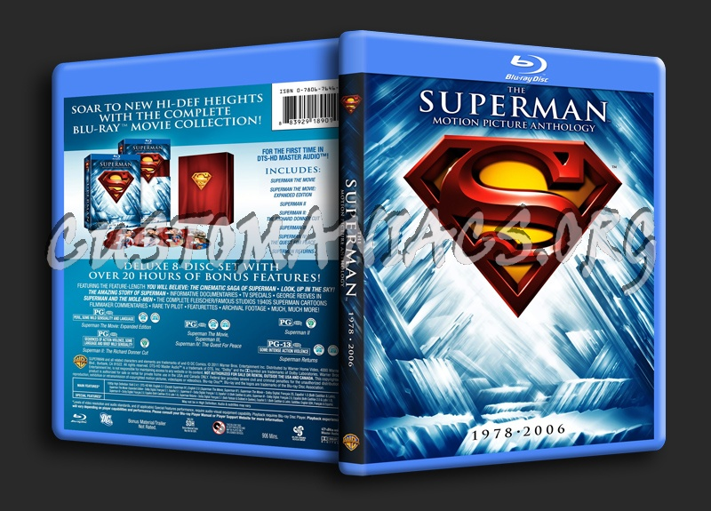 Superman Anthology blu-ray cover