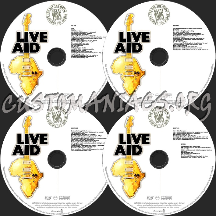 Live Aid dvd label