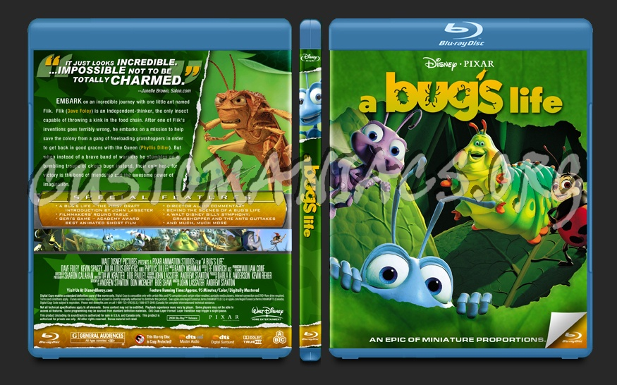 A Bug's Life blu-ray cover