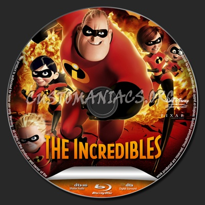 The Incredibles blu-ray label