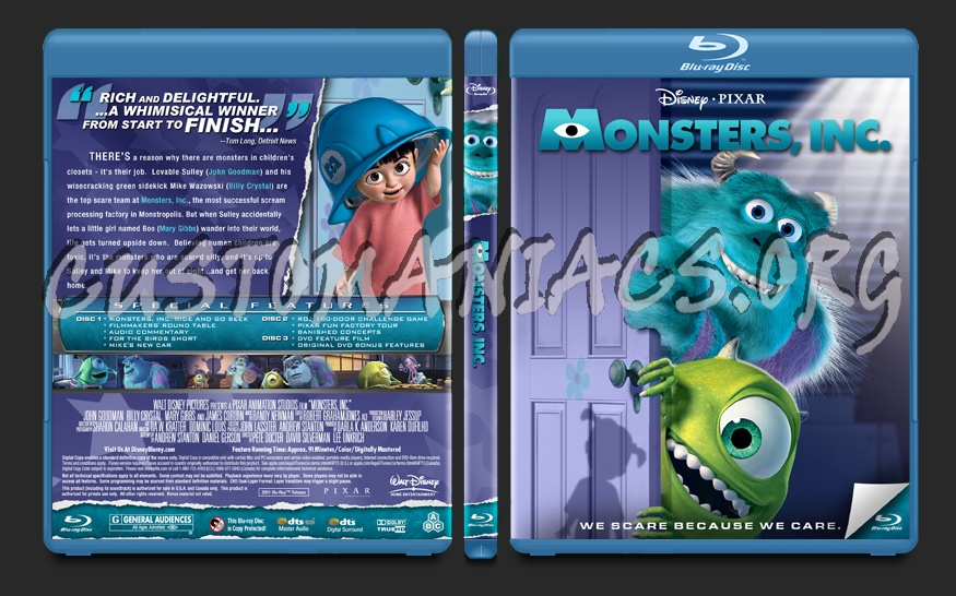 Monsters, Inc. blu-ray cover