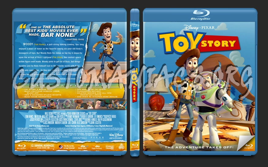 Toy Story blu-ray cover