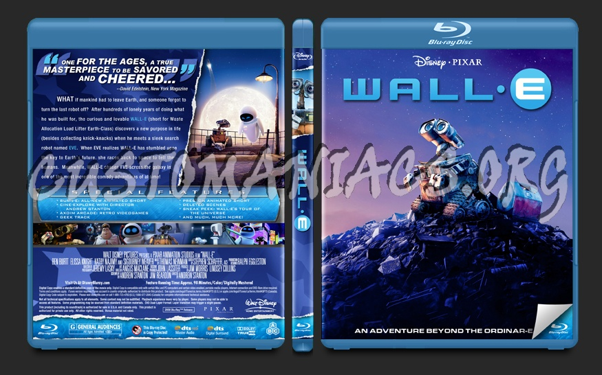 Wall-E blu-ray cover