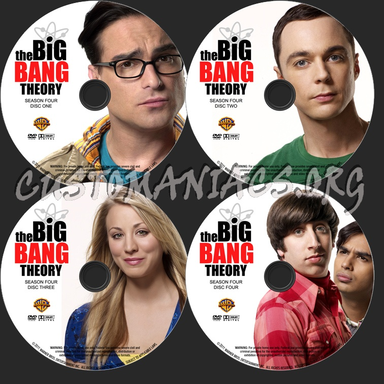 The Big Bang Theory Season 4 dvd label