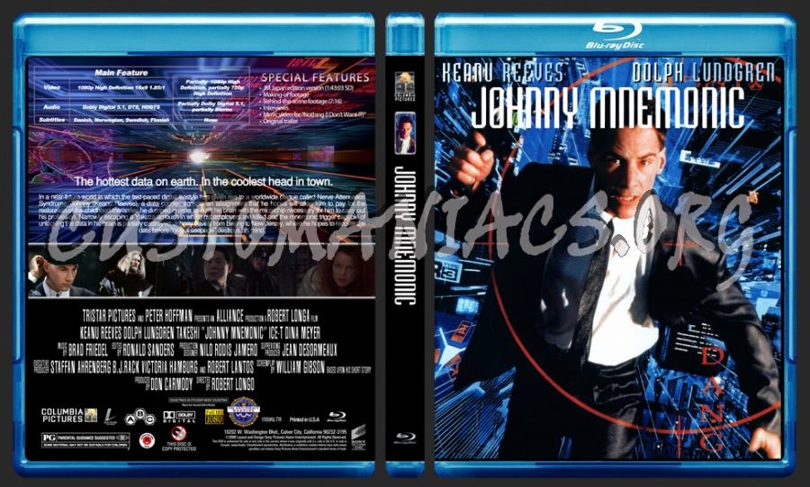 Johnny Mnemonic blu-ray cover