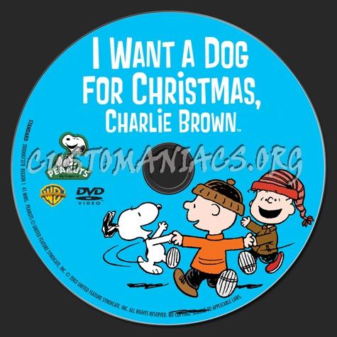 I Want A Dog For Christmas Charlie Brown.I Want A Dog For Christmas Charlie Brown Dvd Label Dvd
