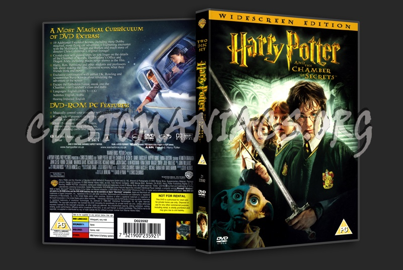 Harry Potter & The Chamber Of Secrets dvd cover