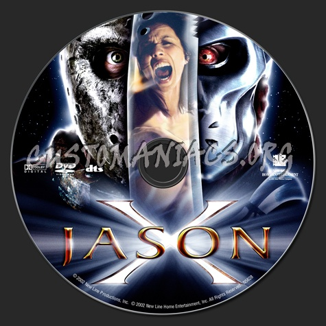 Jason X dvd label