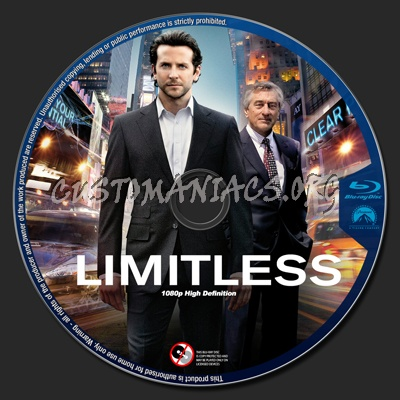 Limitless blu-ray label