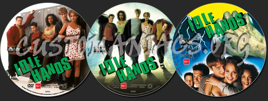 Idle Hands dvd label