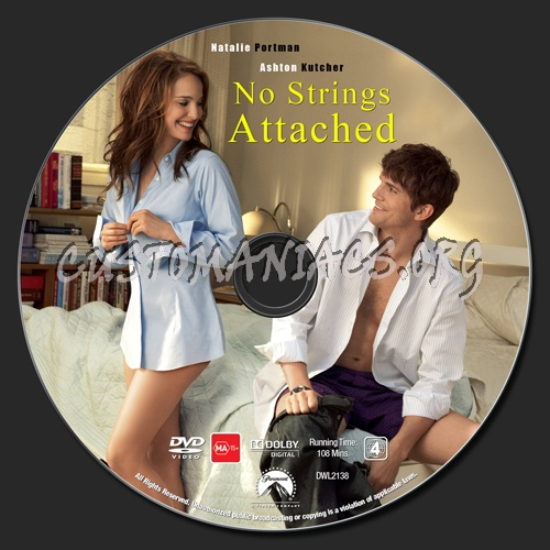 No Strings Attached dvd label