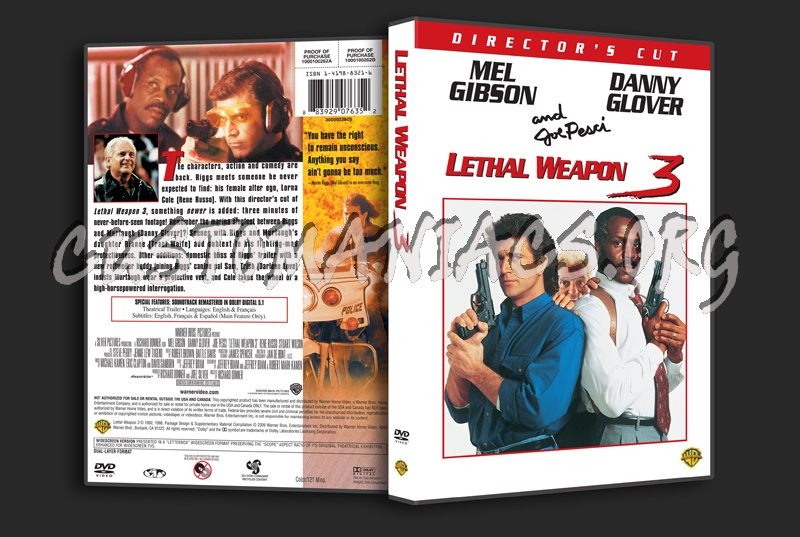 Lethal Weapon 3 dvd cover