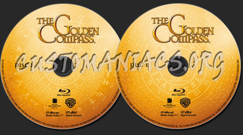 The Golden Compass blu-ray label