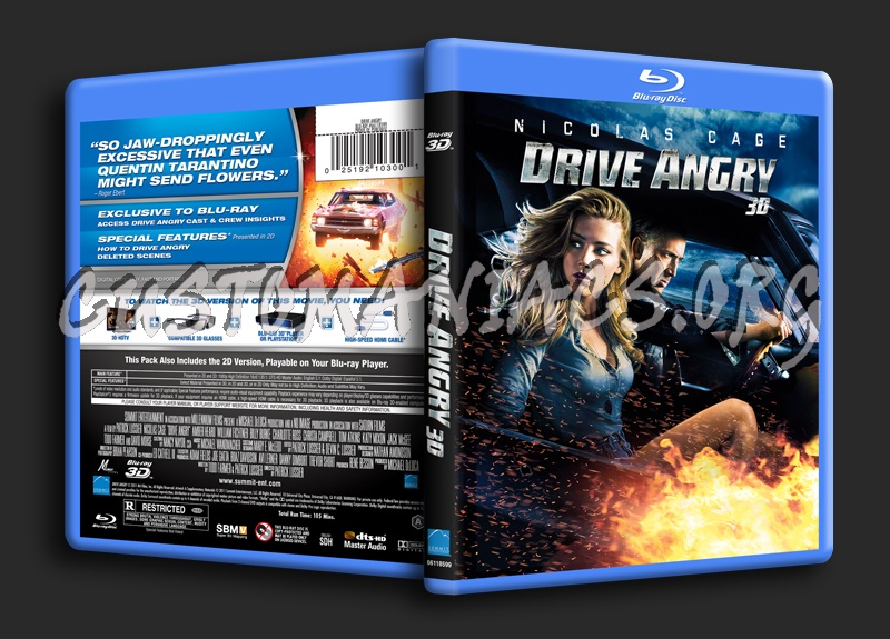 Drive Angry 3D blu-ray cover