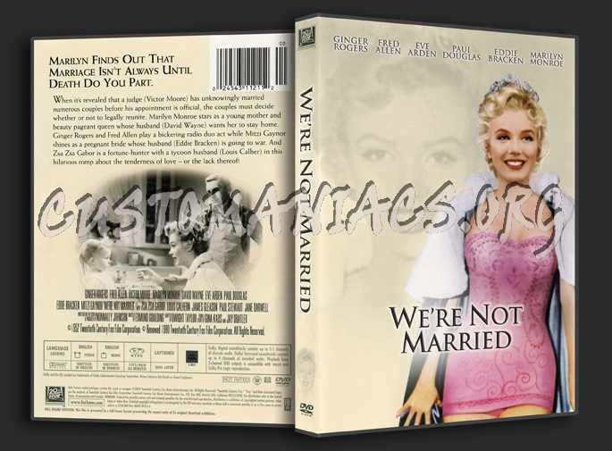 We're Not Married dvd cover