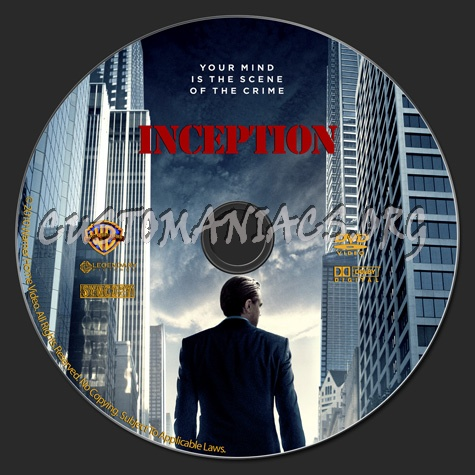Inception dvd label
