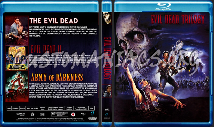 The Evil Dead Trilogy blu-ray cover