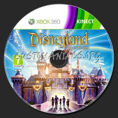 Kinect Disneyland Adventures dvd label - DVD Covers & Labels